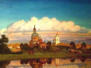 Вязьма. Облако, 1997г., холст, масло