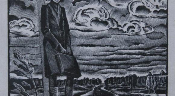 Дорога в город. Ксилография. 12 х 11см , 1988 г.