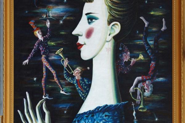 Ночной портрет.1997.Х.,темпера.120х80.