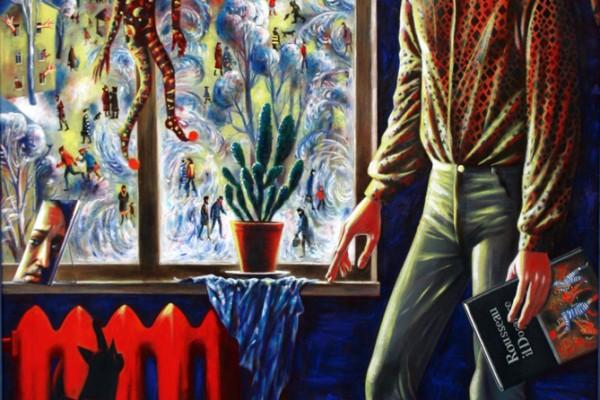 Человек и окно. 2011, двп.темпера, 165х123