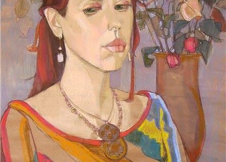 """""""Валерия"""". Крафт, пастель, 71х50 см"""