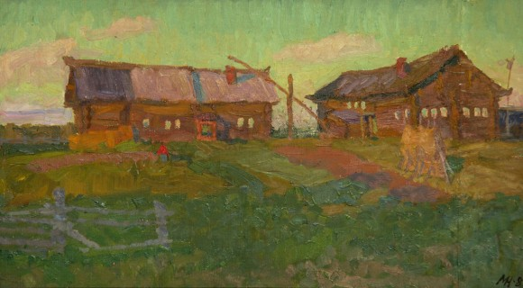 """""""Деревня Кушкопала"""" 1989г. Х.м.,32,5Х58,5"""