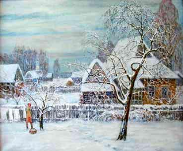 Зимушка, 1997г., 76х92, холст, темпера