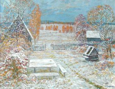 Сентябрьский снег, 1998г., 70х90, холст, масло